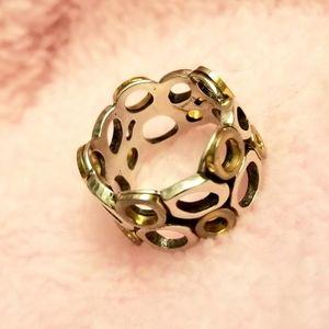 Silver Boho ring.